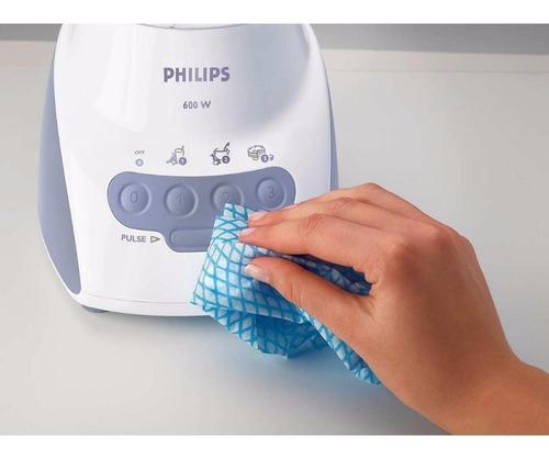 licuadora philips hr2034 600w 2l filtro y espátula 3v turbo
