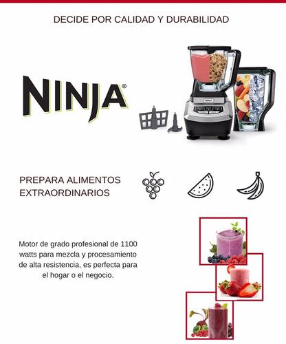 licuadora profesional ninja 1100 watts trituradora 2 vasos