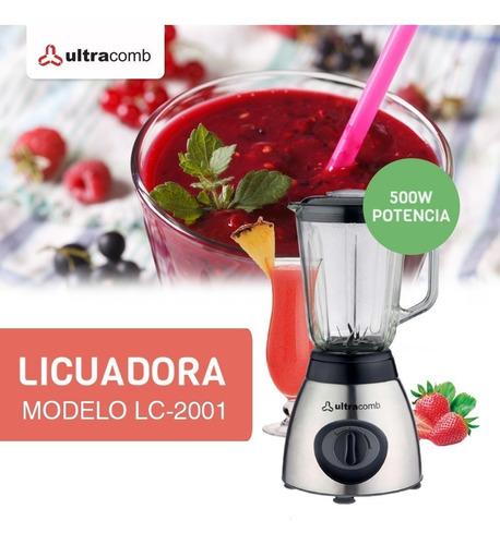 licuadora ultacomb lc-2001 jarra vidrio 2 vel 1,5 lts 500 w