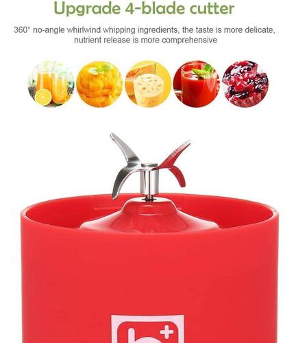 licuadora y exprimidora portátil 500 ml usb