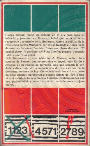 lida mantovani y otras historias de ferrara/ giorgio bassani