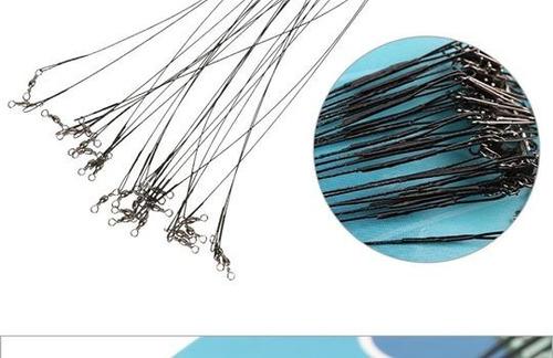 lider de acero inoxidable para señuelos de pesca (5 und)