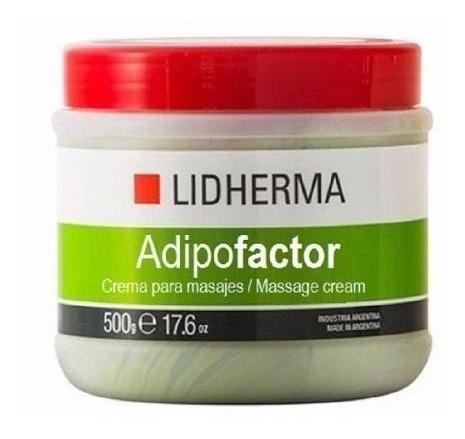 lidherma adipofactor crema reductora 500gr
