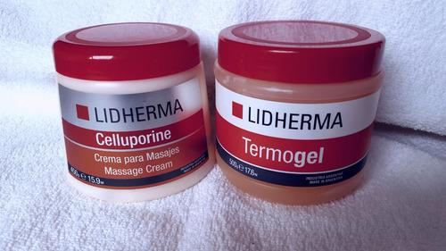 lidherma celluporine + termogel belgrano subte d