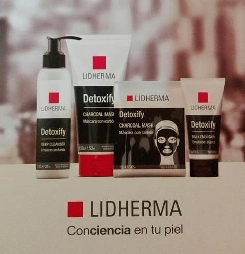 lidherma detoxify charcoal mask black mascara 1 unidad