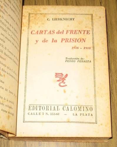 liebknecht : cartas del frente y de la prisión 1916 - 1918