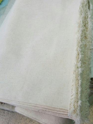 lienzo algodón. ancho 2.40mts. por 10 mts