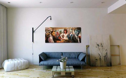 lienzo canvas collage graffittis banksy 50 x 70 cm