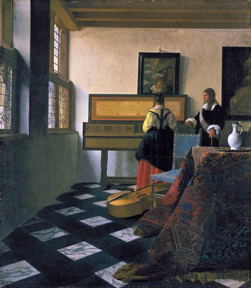 Lienzo Canvas Lección De Música Jan Vermeer 60x70cm - $ 800.00 en ...