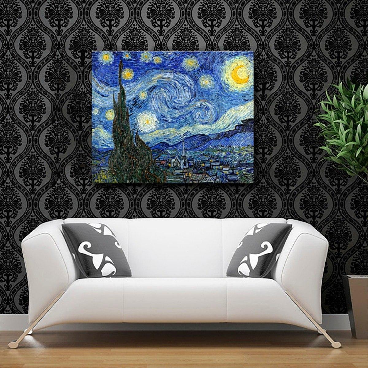 Lienzo En Bastidor Nuit étoilée Van Gogh 1889