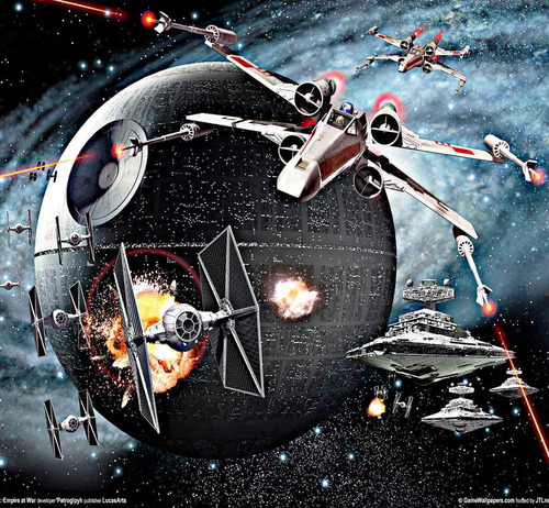 lienzo lienzografía star wars impresión 60x90 poster arte