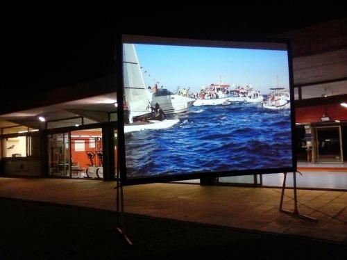 lienzo para pantalla de videoproyeccion mod tl 140 3x2 m.