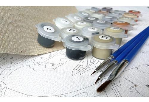lienzo para pintar por números lago envío gratis