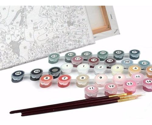lienzo para pintar por números pétalos rojos envío gratis