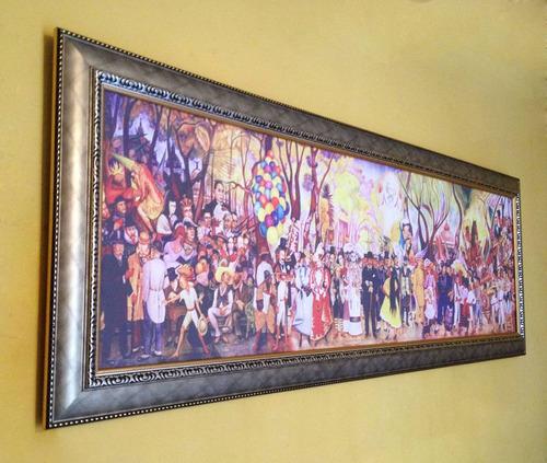 lienzo, tarde dominical en la alameda central, diego rivera
