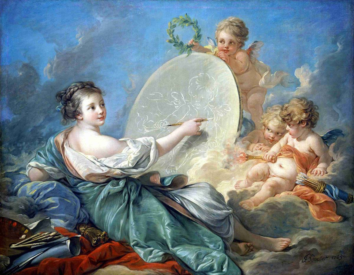 Lienzo tela alegor a de la pintura fran ois boucher rococ - Donde comprar pintura para tela ...