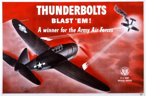 lienzo tela anuncio us army air force 1944 48 x 73 avión