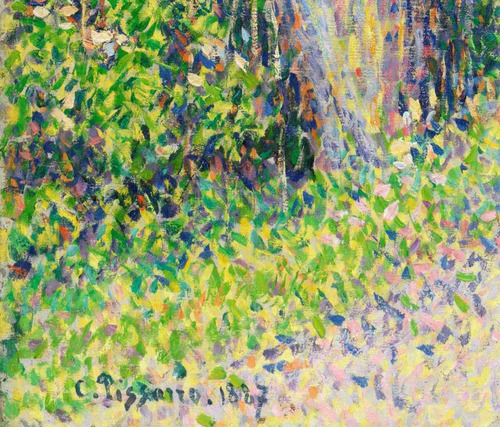 lienzo tela arte camille pissarro casas de campesinos eragny