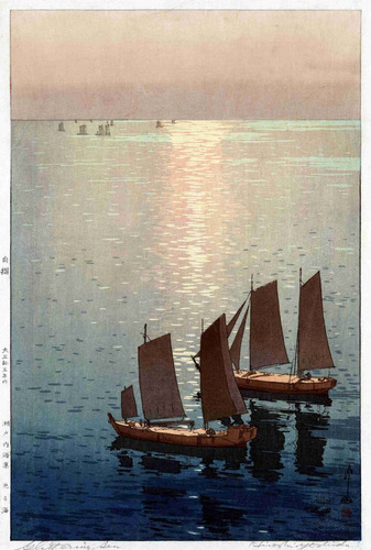 lienzo tela arte japón decoración mar hikaru hiroshi yoshida