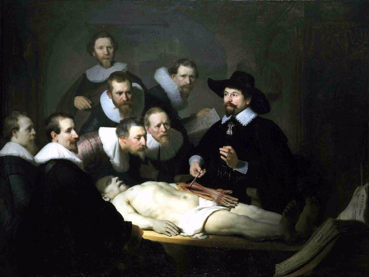 Lienzo Tela Arte Medicina Lección De Anatomía Rembrandt - $ 750.00 ...