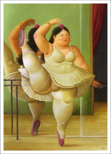 lienzo-tela, bailarin de ballet, fernando botero, 60x85 cm