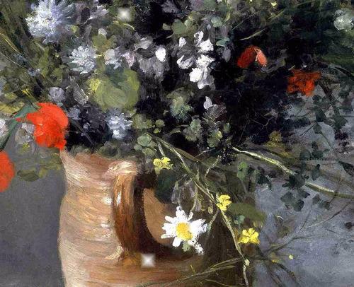lienzo tela canvas arte auguste renoir jarrón flores 50 x 65