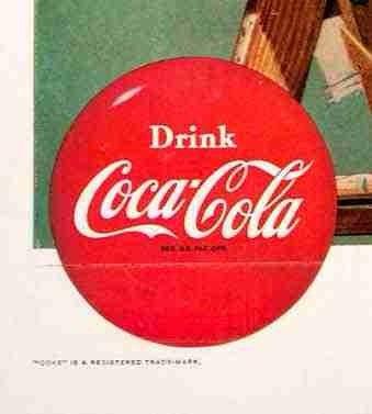 lienzo tela canvas arte publicidad coca cola 1952 65 x 50