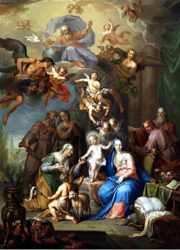 lienzo tela canvas arte sacro la sagrada familia 50 x 75