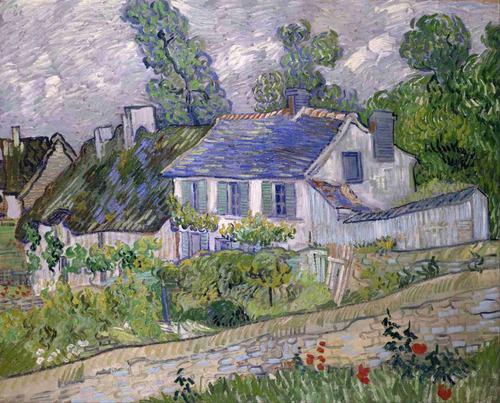 lienzo tela canvas casas en auvers vincent van gogh 50 x 61