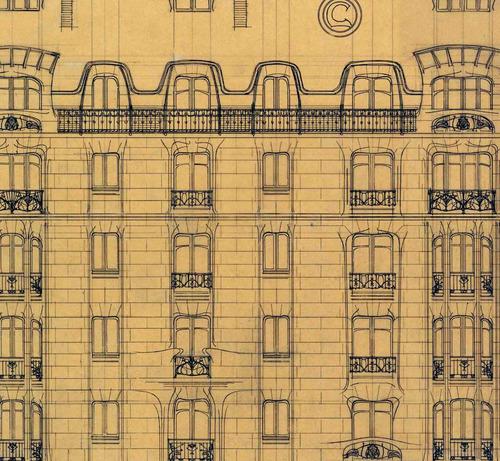 lienzo tela canvas dibujo arquitectura fachada real sociedad