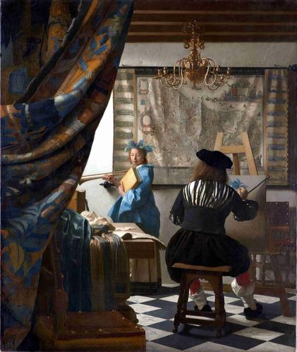 lienzo tela canvas el arte de pintar jan vermeer 1666