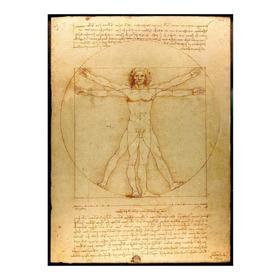 Lienzo Tela Canvas Hombre De Vitruvio 1490 Leonardo Da Vinci