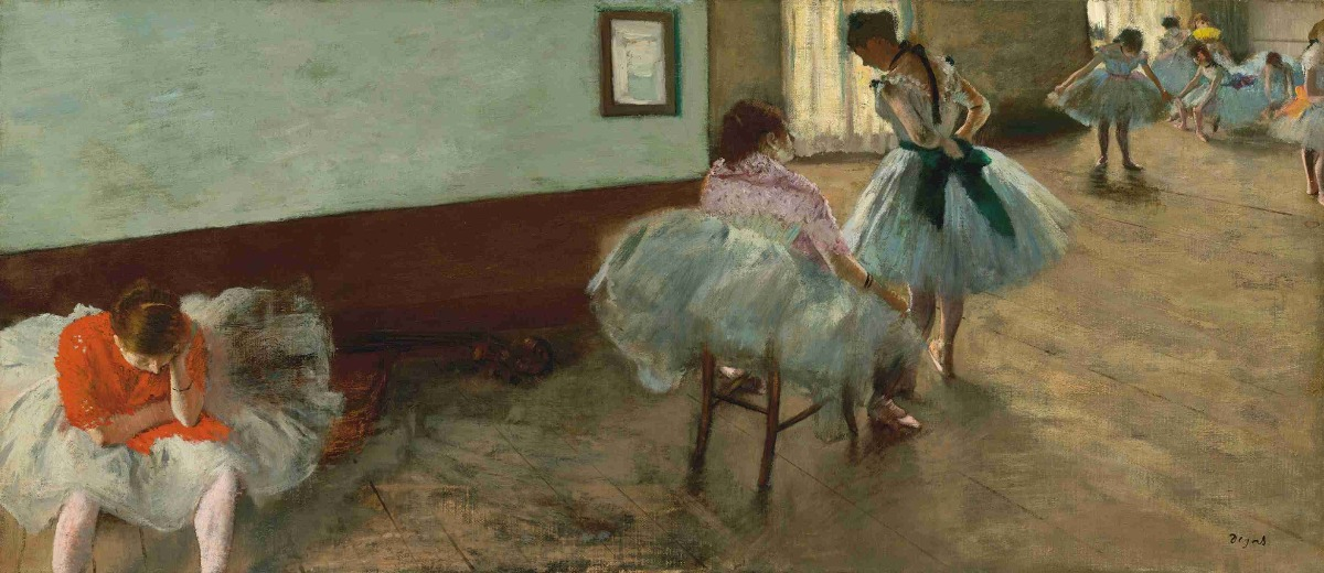 Lienzo Tela Canvas Lecciones De Ballet Edgar Degas 39 X 90 ...