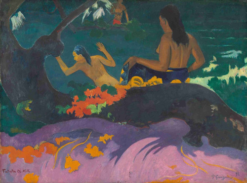 lienzo tela canvas paul gauguin fatata te miti 1892 50 x 67