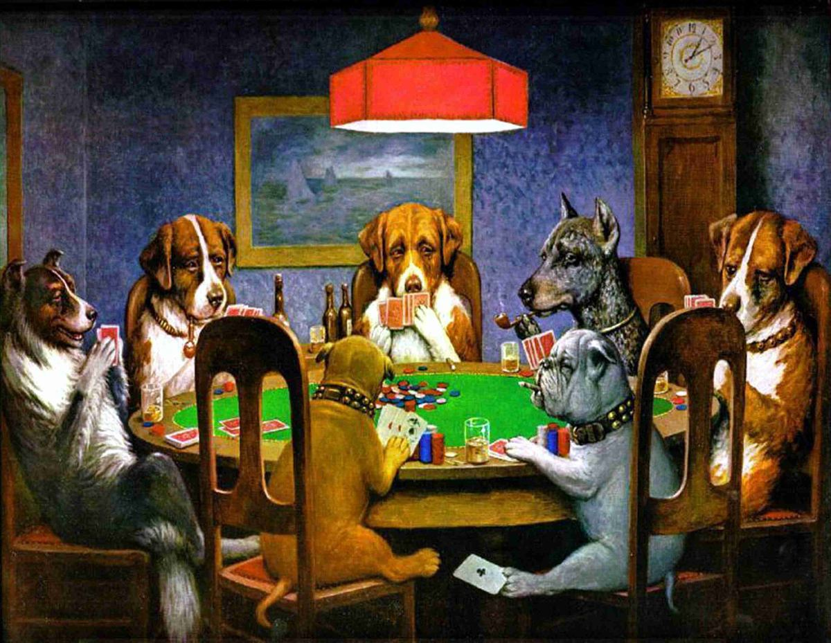 Lienzo Tela Canvas Perros Póker Un Amigo Necesitado 1903 - $ 800.00 ...