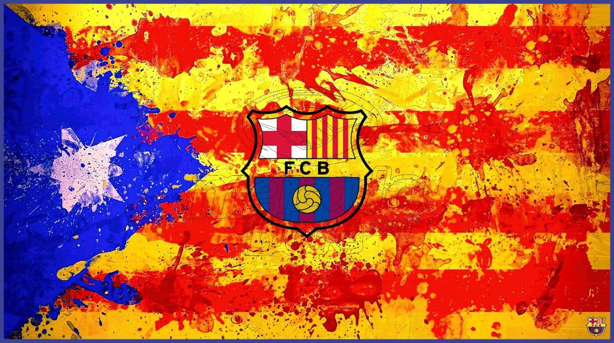 lienzo tela canvas poster bandera barcelona fc 50 x 90 cm. Cargando zoom. 05168e4ce71