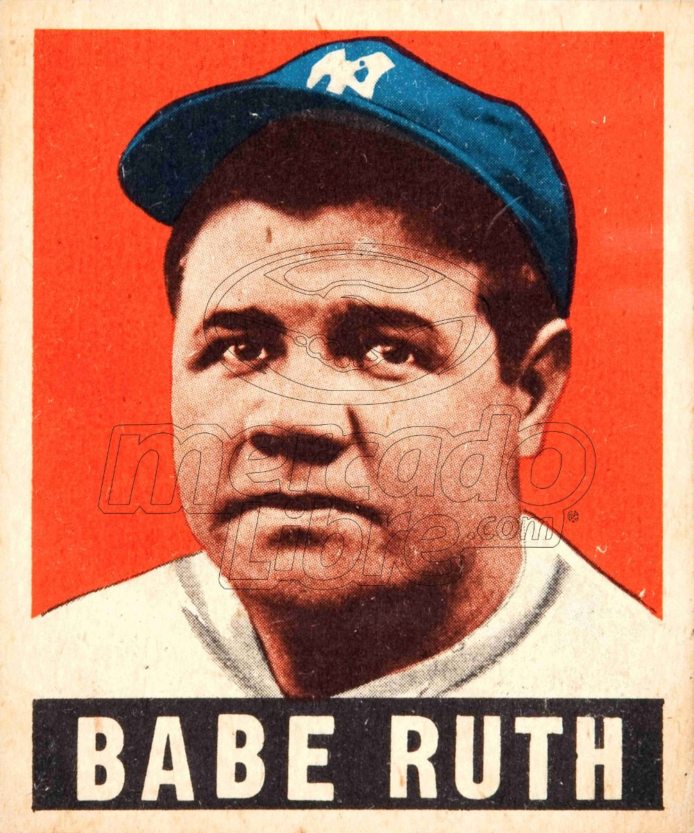Lienzo Tela Canvas Poster Tarjeta Béisbol Babe Ruth 1948 - $ 800.00 ...