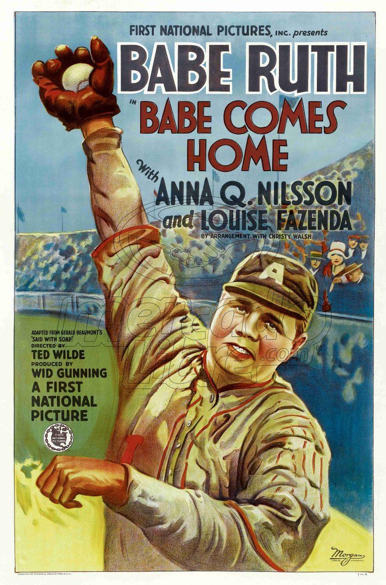 Lienzo Tela Canvas Poster Tarjeta Béisbol Babe Ruth Película ...