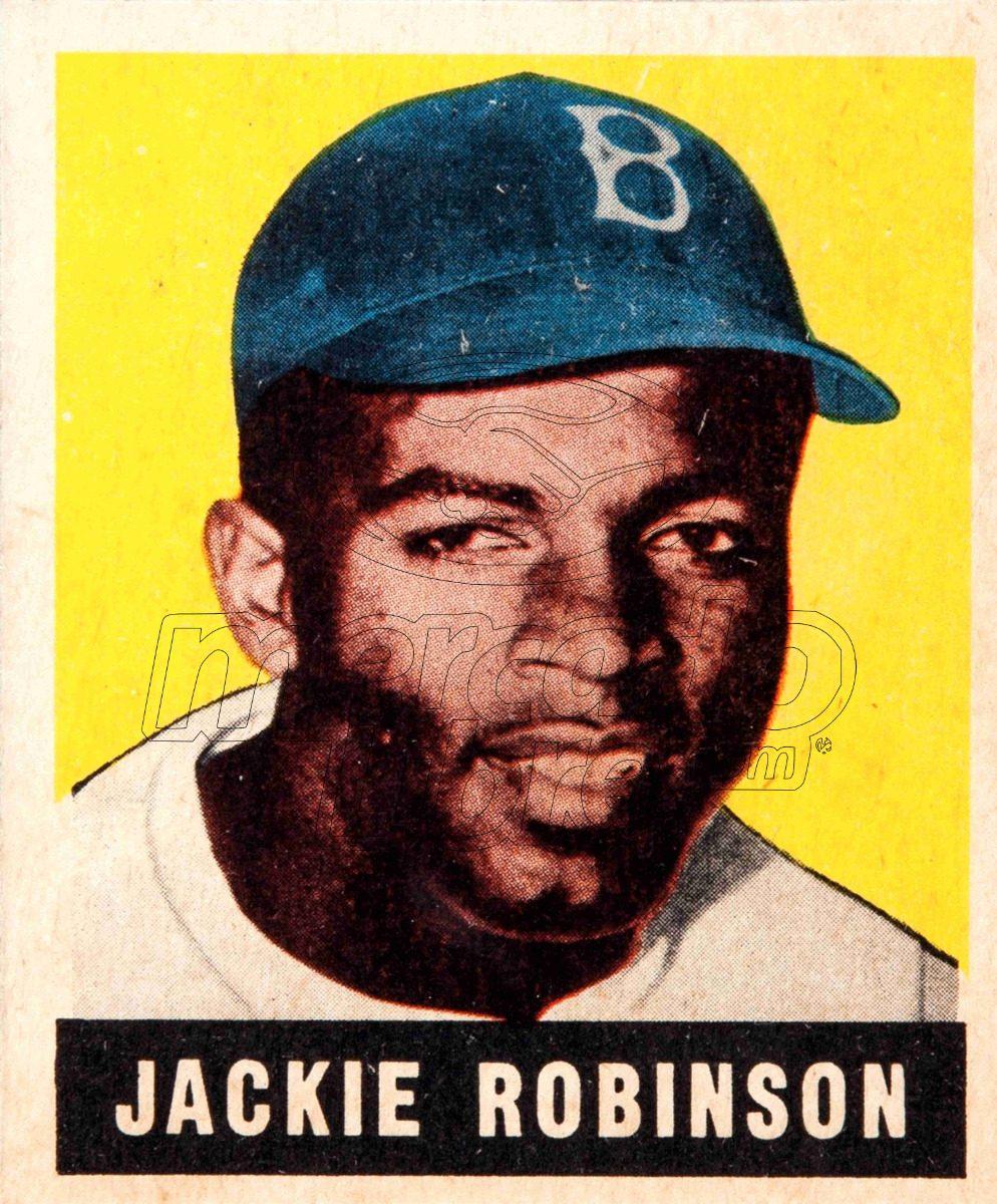 Lienzo Tela Canvas Poster Tarjeta Béisbol Jackie Robinson - $ 800.00 ...