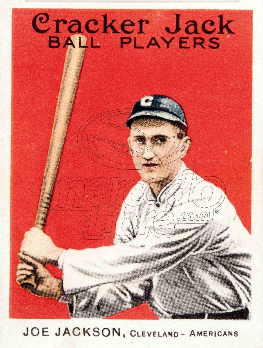 Lienzo Tela Canvas Poster Tarjeta Béisbol Joe Jackson 1915 ...