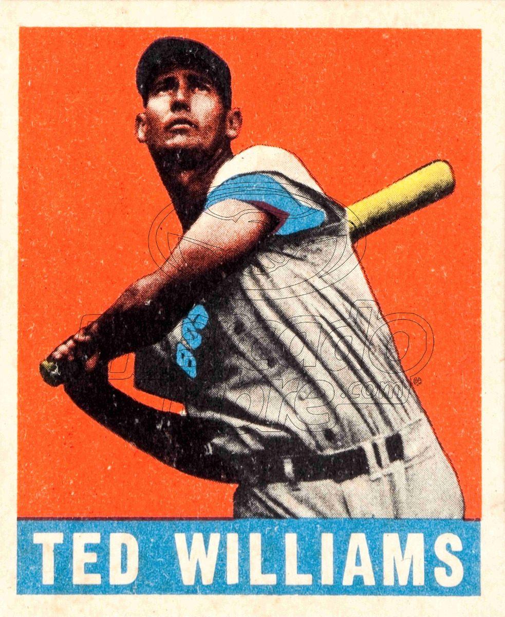 Lienzo Tela Canvas Poster Tarjeta Béisbol Ted Williams 1948 ...