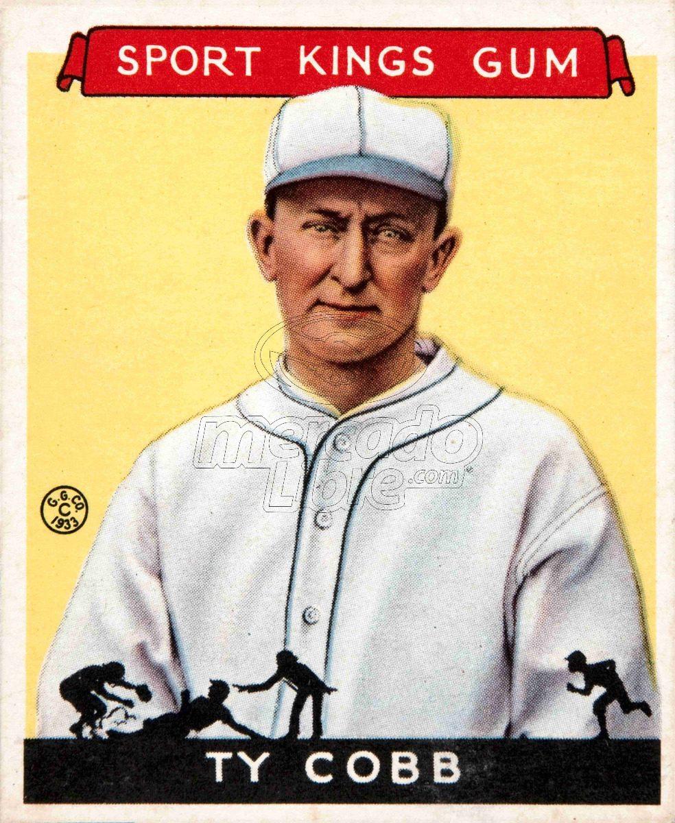 Lienzo Tela Canvas Poster Tarjeta Béisbol Ty Cobb Detroit - $ 800.00 ...