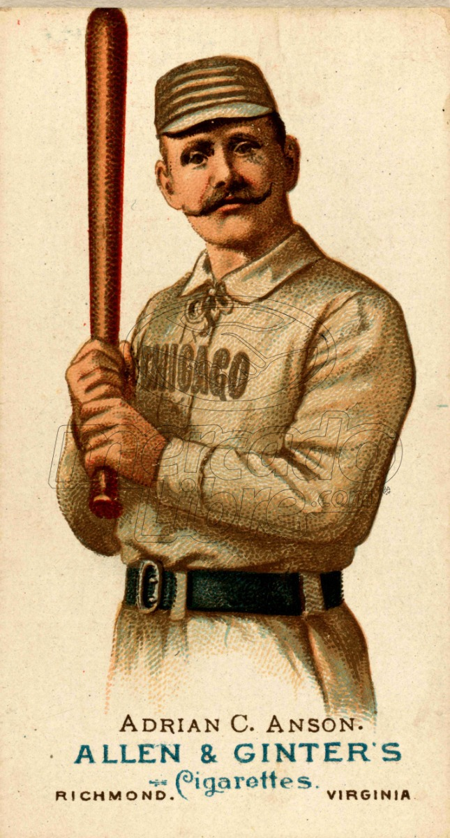 Lienzo Tela Canvas Tarjeta Béisbol Adrian Anson Chicago - $ 800.00 ...