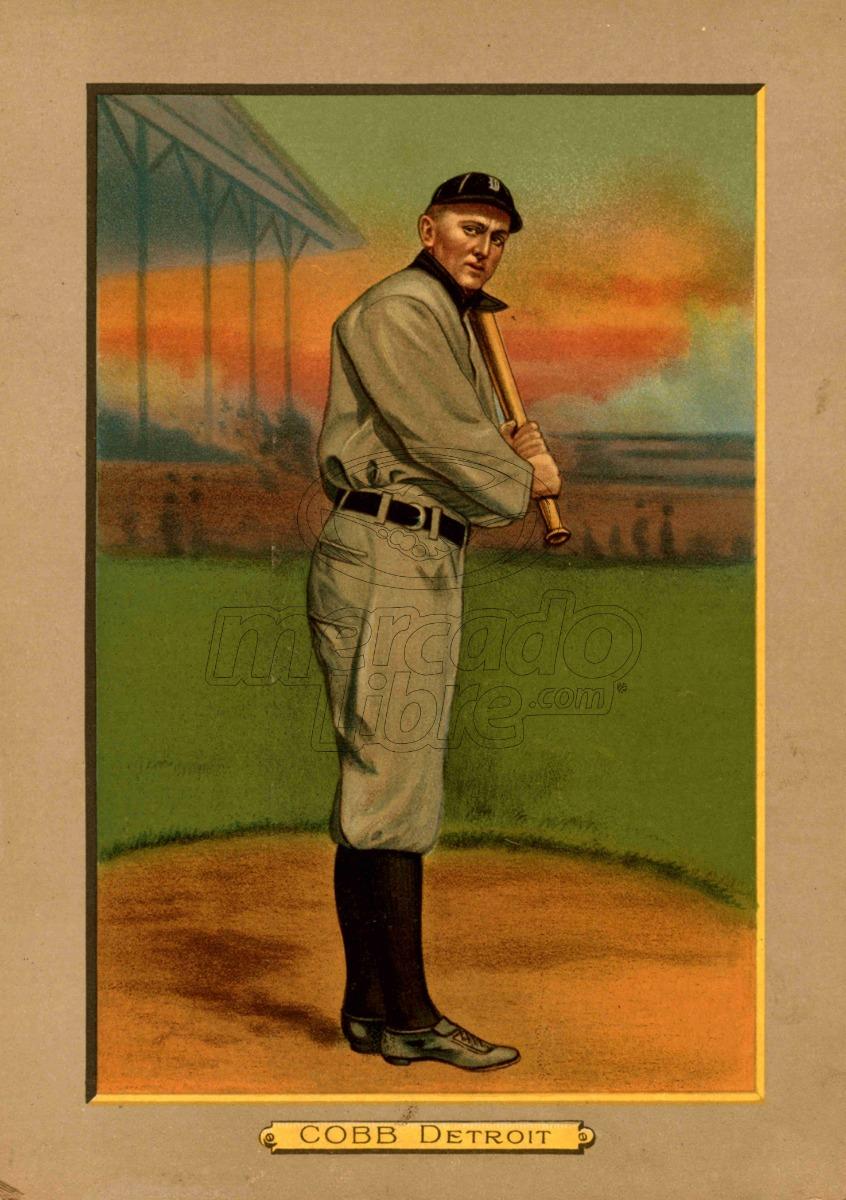 Lienzo Tela Canvas Tarjeta Béisbol Ty Cobb Detroit - $ 800.00 en ...