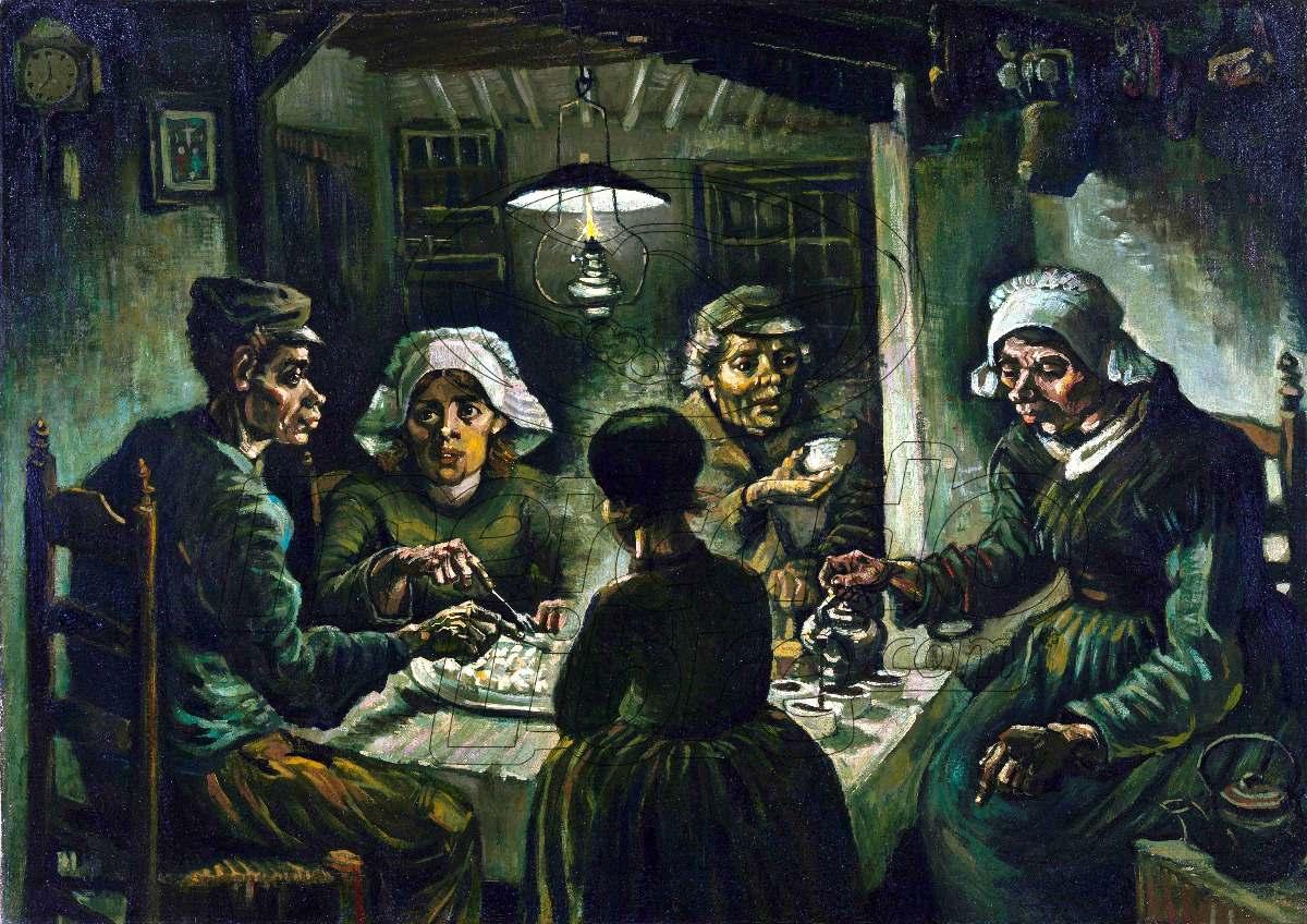 Lienzo Tela Comedores De Patatas Vincent Van Gogh 82 X 114