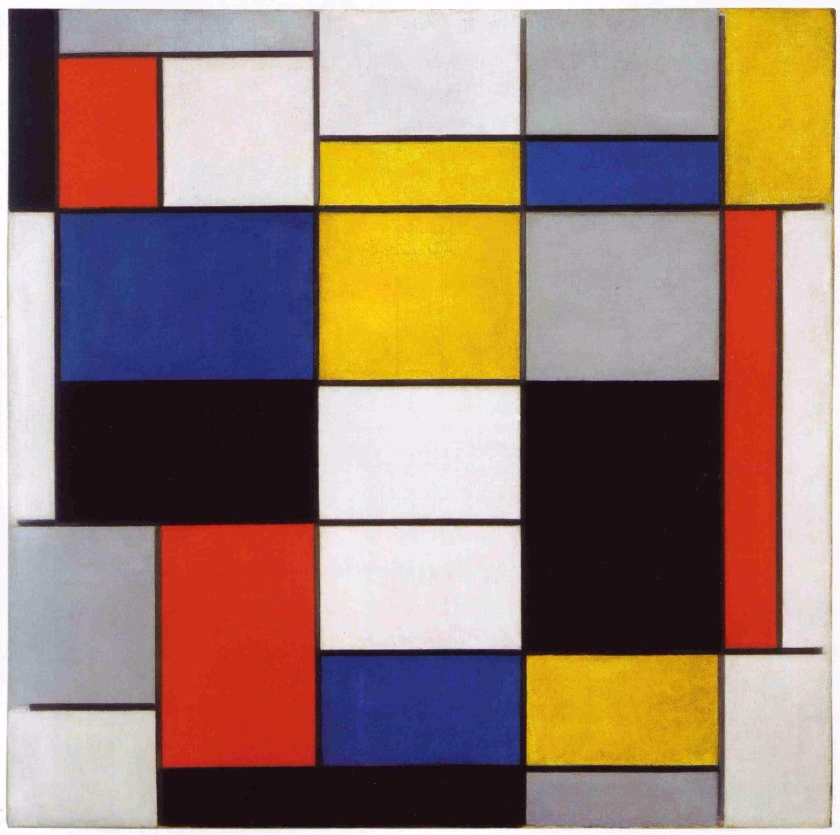 Lienzo tela composici n a piet mondrian arte abstracto - Composicion cuadros ...