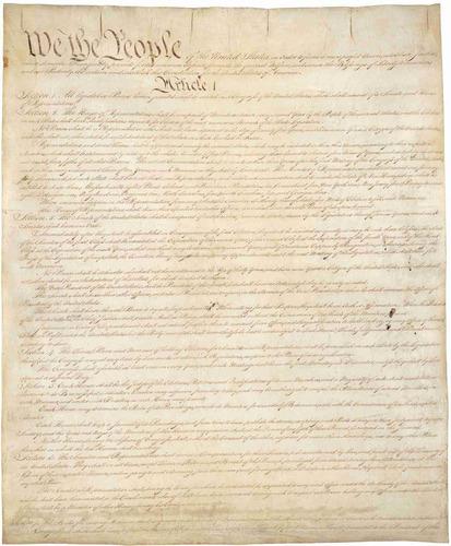 lienzo tela constitución de los estados unidos de américa