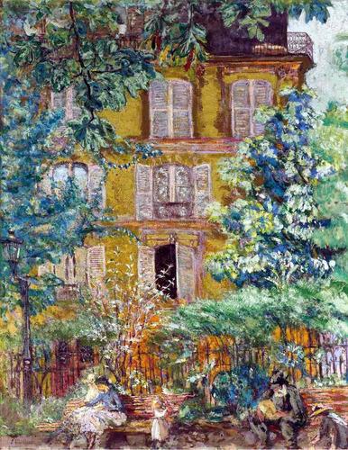 lienzo tela édouard vuillard fachada casa 70 x 50 cm arte