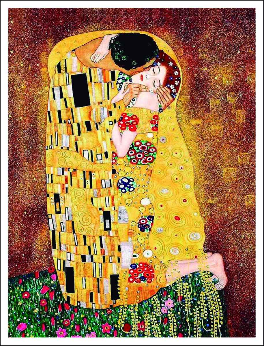 Lienzo Tela, El Beso, Gustav Klimt, 40x50cm - $ 489.00 en Mercado Libre