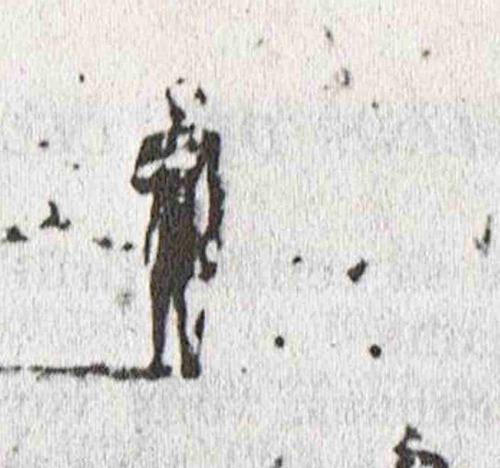 lienzo tela fotografía fusilamiento maximiliano 1867 50x71cm